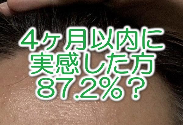 ブブカゼロは4ヶ月以内に効果を実感した人が87.2%