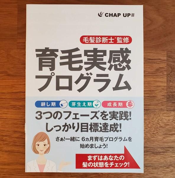 チャップアップの育毛実感プログラム