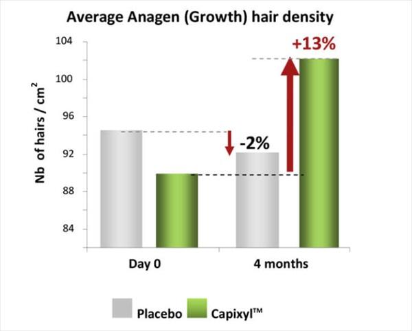 キャピキシルの育毛実験(成長期)